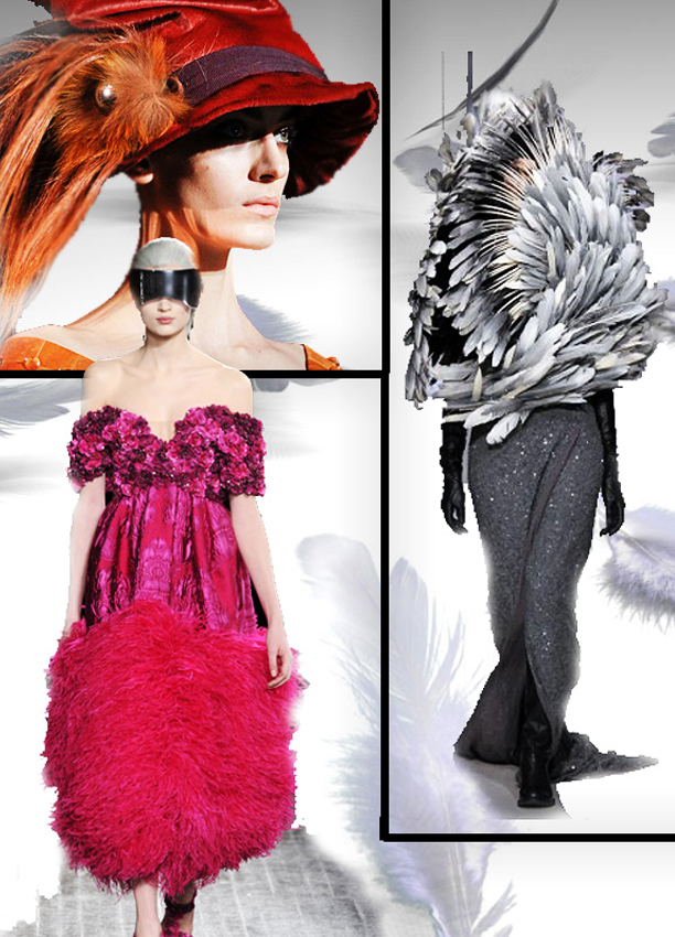 Paris Fall 2012 Fashion Trends Feathers