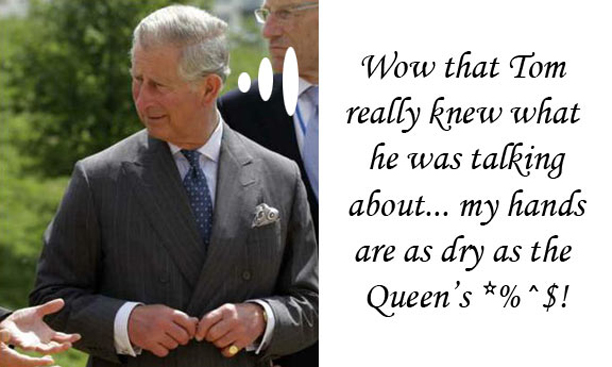 Tom Ford Tells Prince Charles how to Moisturize