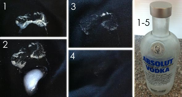 Removing gum from clothing