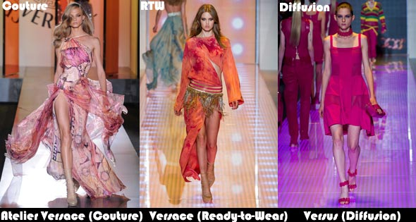 Versacce couture Ready-to-wear and diffusion