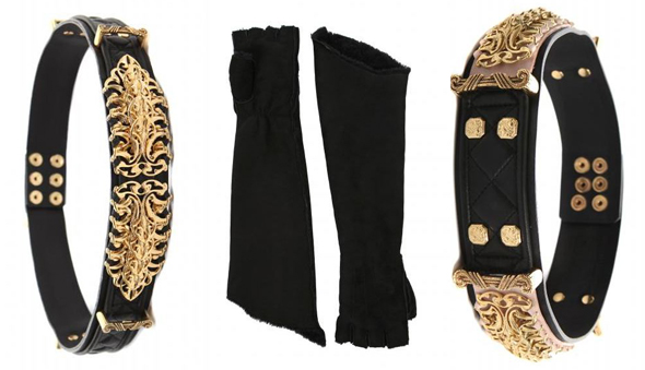 Gloves and bracelets from Balmain