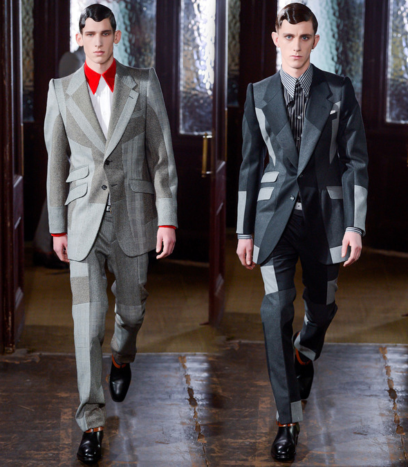 Shattered suiting at McQueen Fall 2013