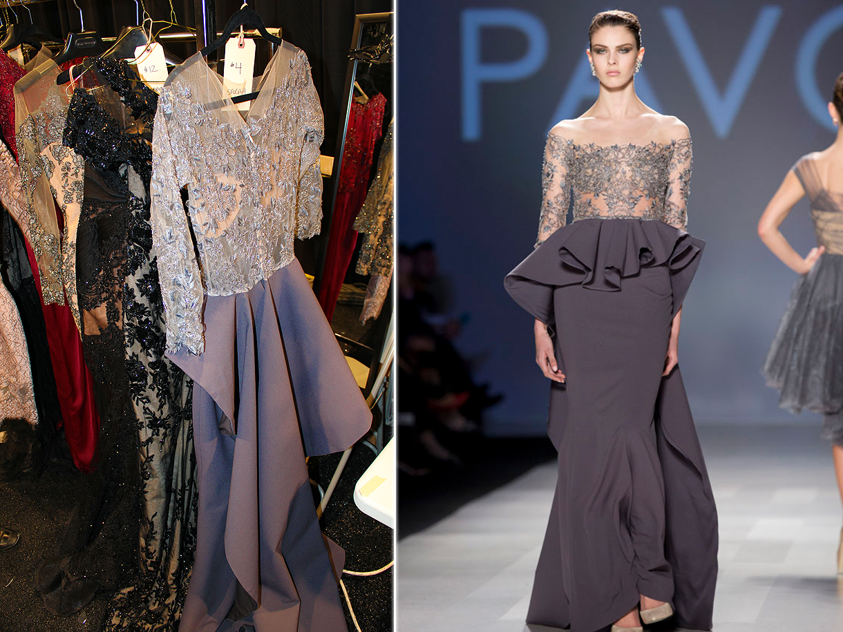 Backstage at PAVONI Fall 2013