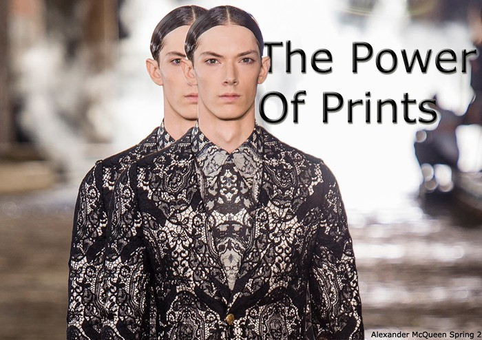 Alexander McQueen Menswear printed with lace