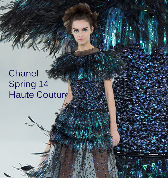 Chanel Feathers and fierce couture