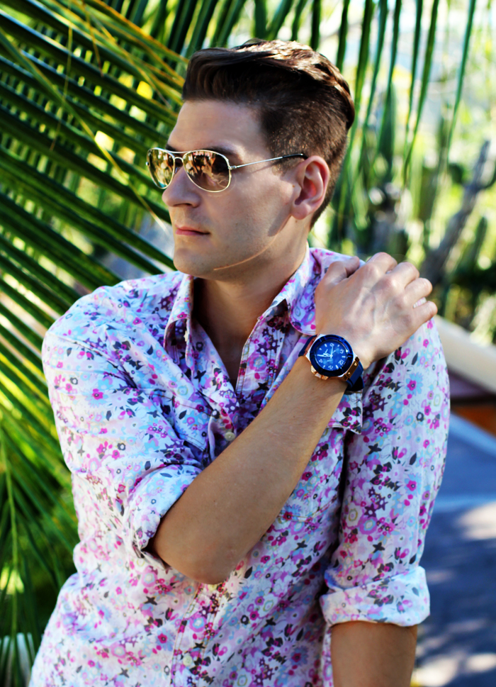 floral micro prints for men
