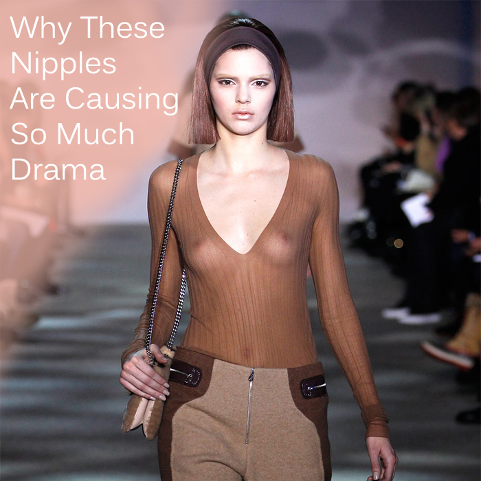 Kendall Jenner topless at runway show