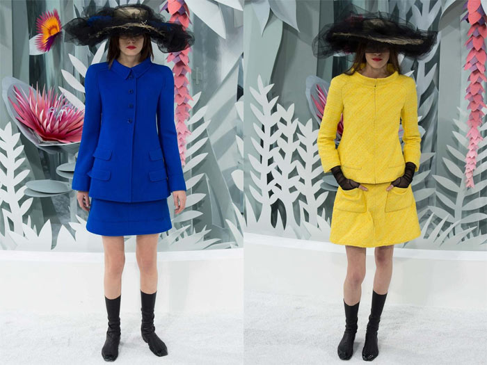 colored suits at Chanel Couture Spring 2015