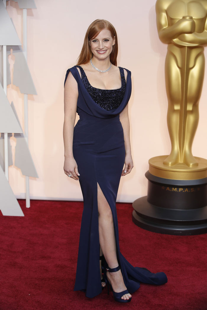 Jessica Chastain in Givenchy Couture 2015 Oscars