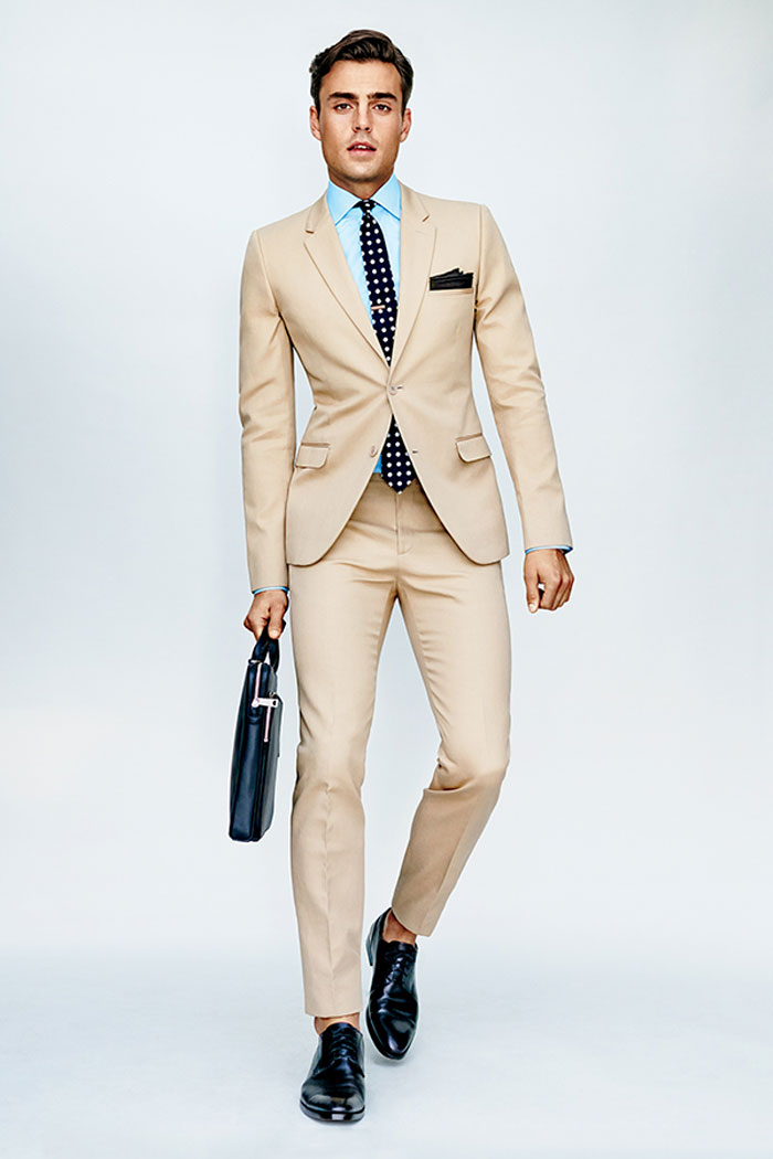 Khaki suit for the office