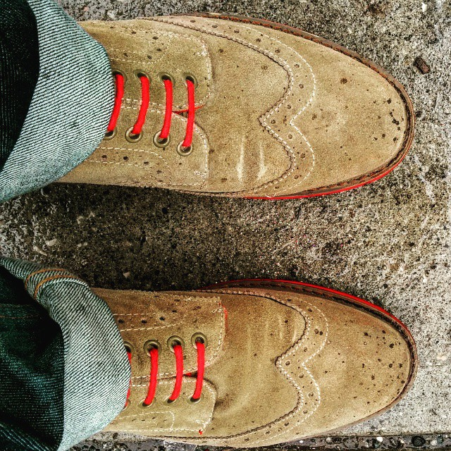 #Suede in the #rain... don't do it!