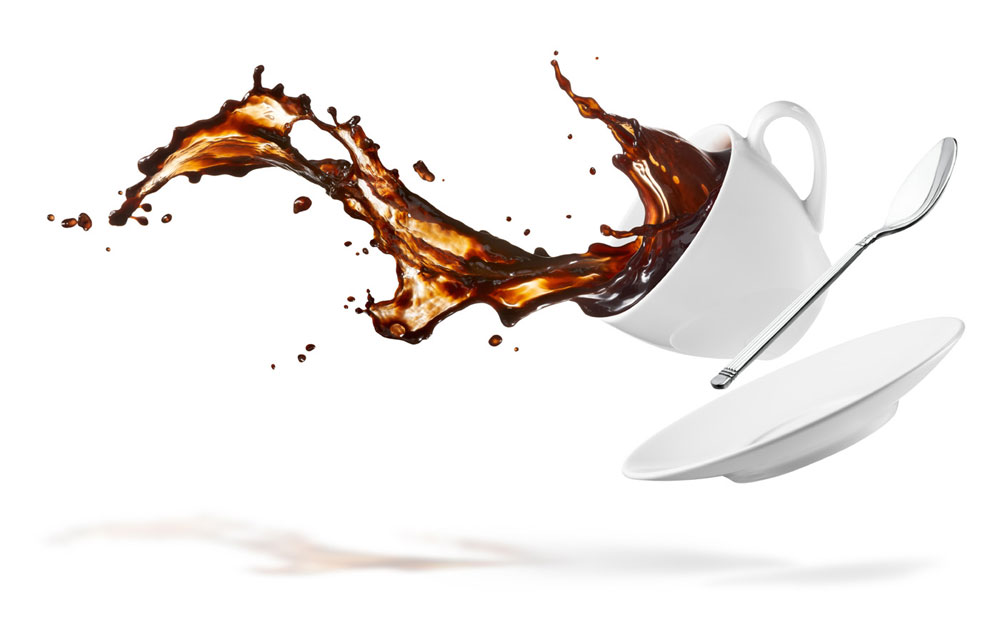 Don't Cry over spilled coffee... unless you brewed it twice by hand...